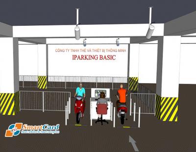 Mô hình 3D bãi xe thông minh iParking Basic