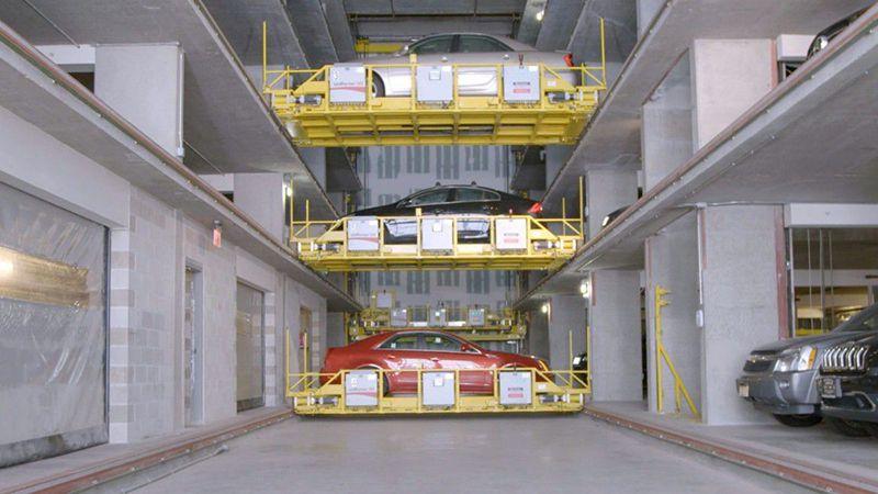 đỗ xe tự động dạng thang di chuyển từng tầng độc lập