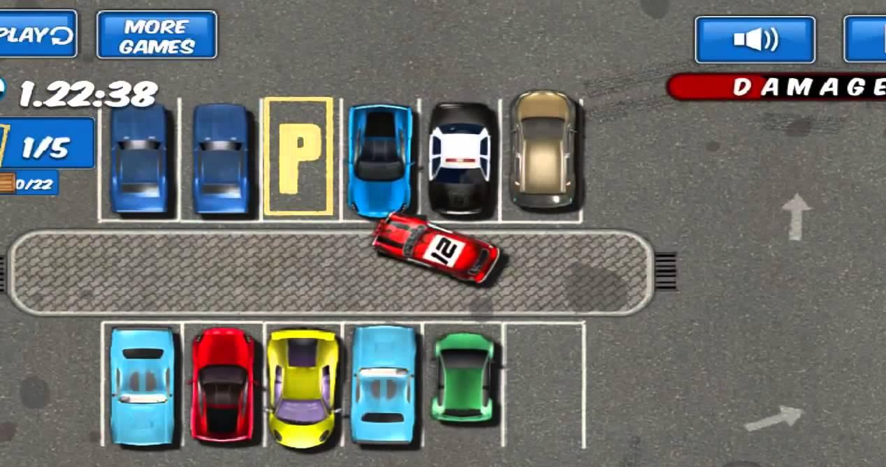 Thử thách trong game bãi đỗ xe