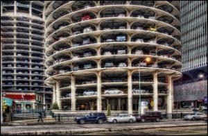 Bãi đậu xe thông minh tháp hình trụ
