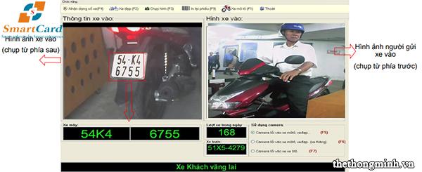 Camera ghi lại hình ảnh người gửi và biển số xe