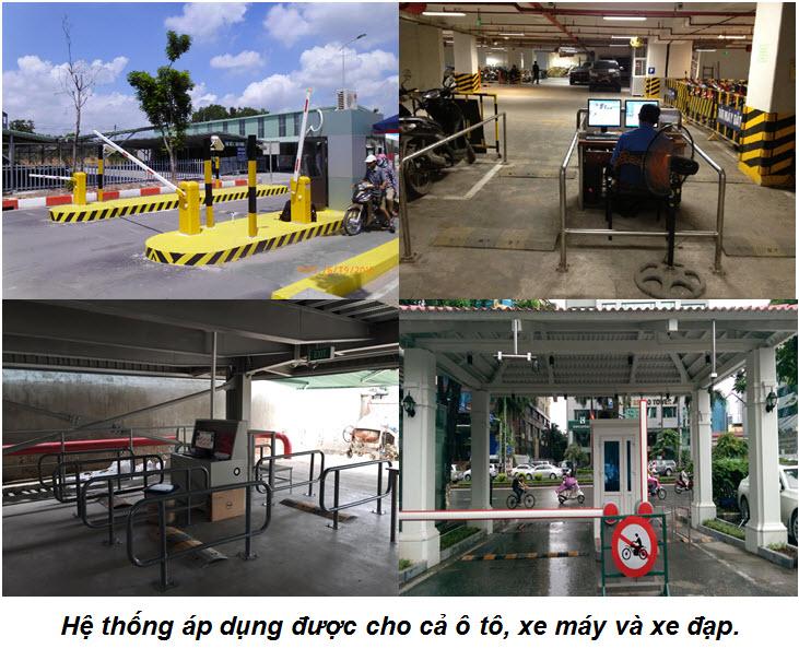 Hệ thống máy giữ xe thông minh bằng thẻ từ cho cả xe ô tô và xe máy