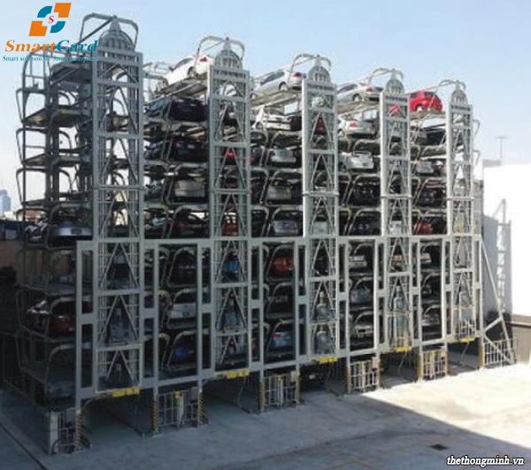 Hệ thống bãi đỗ xe dạng tháp 4 cột
