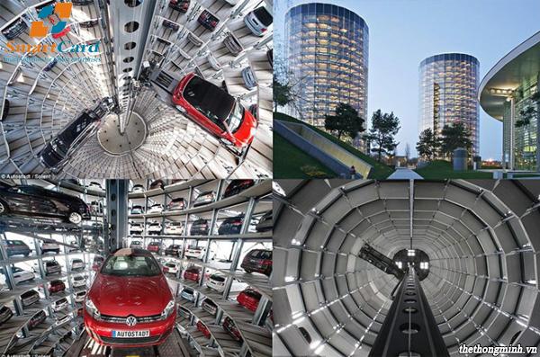 Hệ thống bãi đỗ xe dạng tháp hình trụ