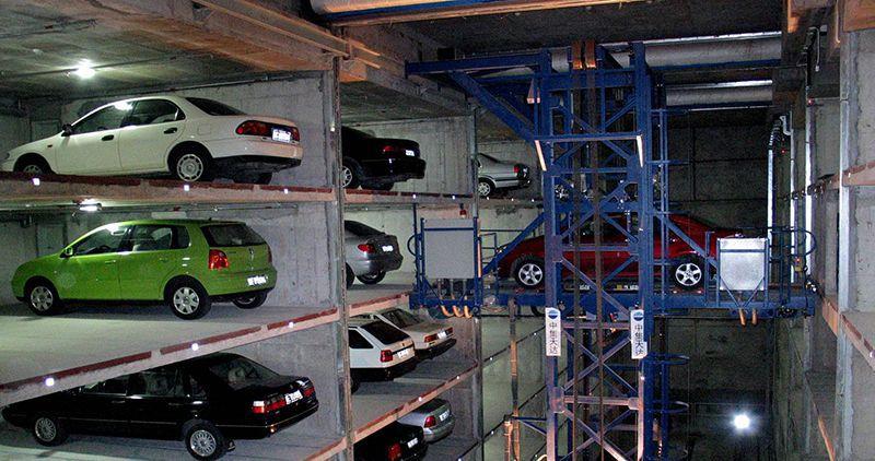 Hệ thống đỗ xe tự động dạng thang nâng di chuyển