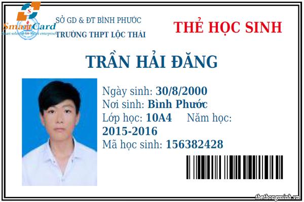 Mẫu in thẻ nhựa học sinh chuẩn bộ giáo dục