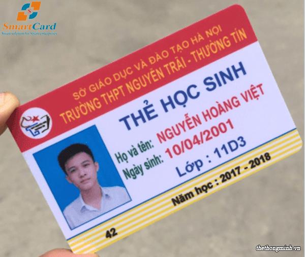 Mẫu thẻ nhựa học sinh